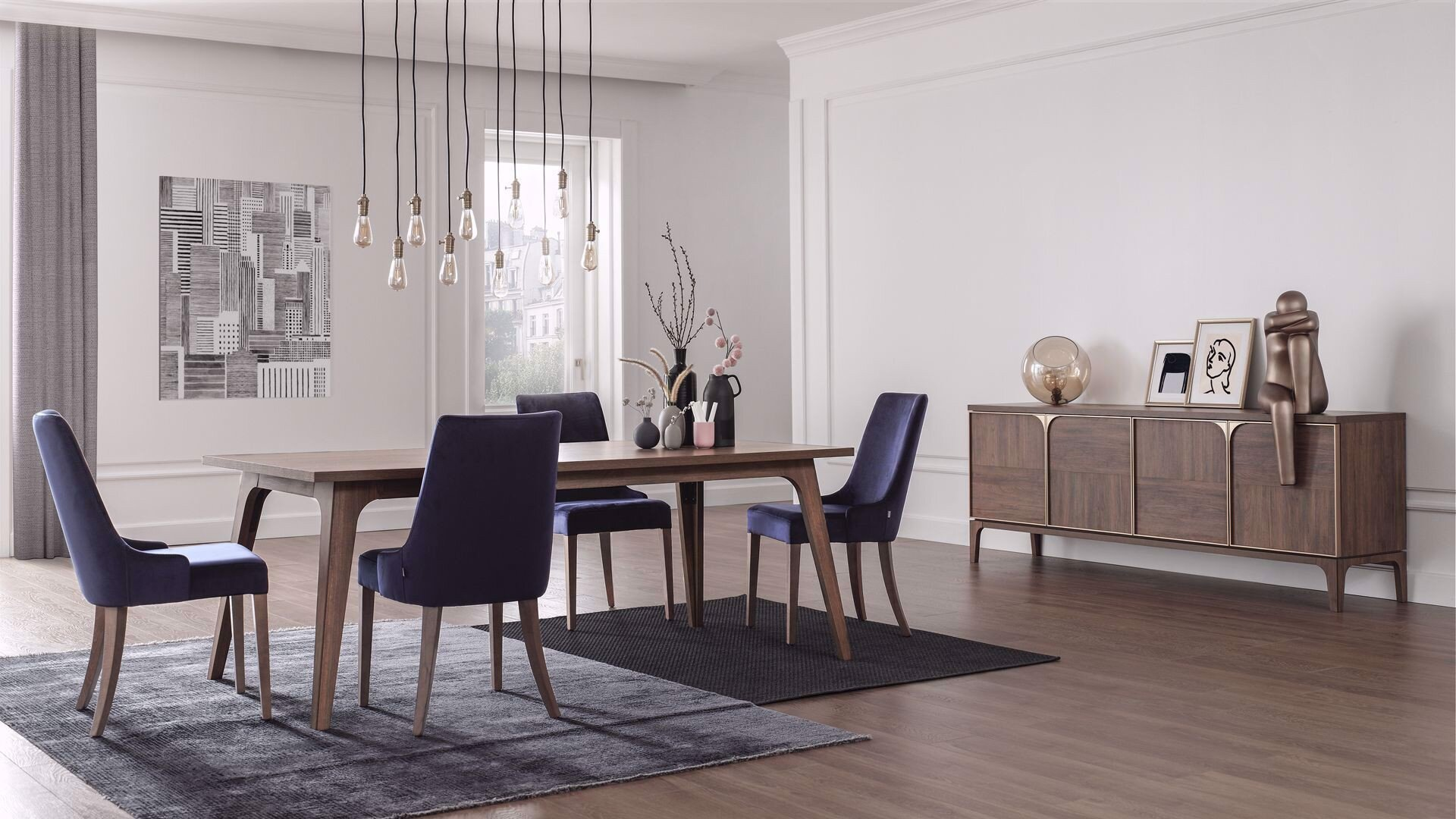 Gold Expandable Dining Table