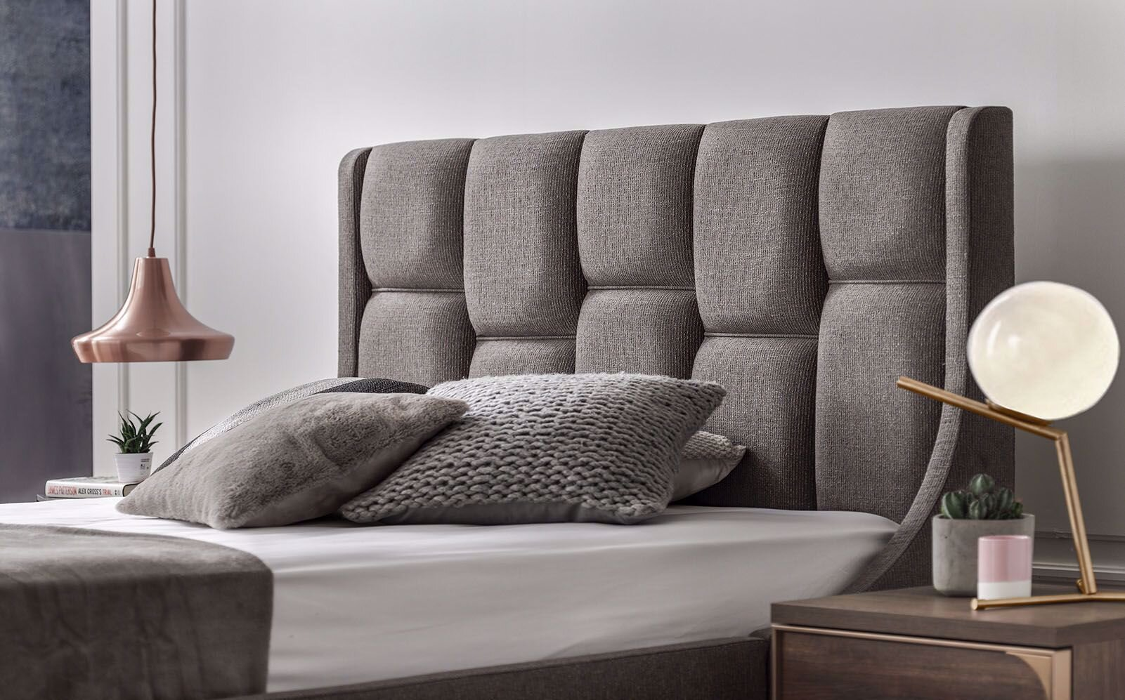 Gold Double Bedstead 160X200