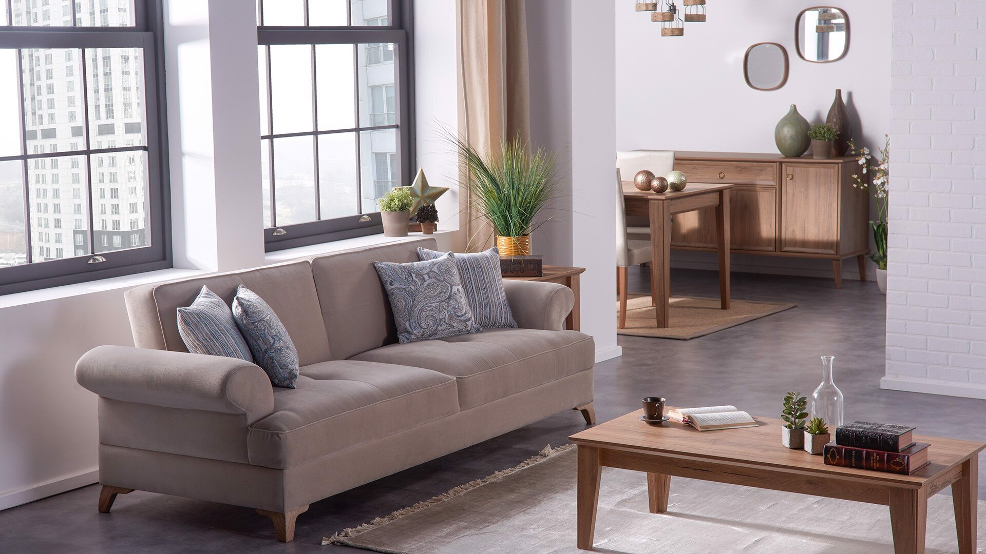 Parma 2 Seater Sofa Bed