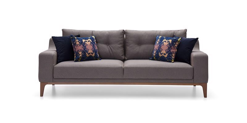 GOLD TRIPLE SEAT SOFA (BED TRANSFORMABLE)