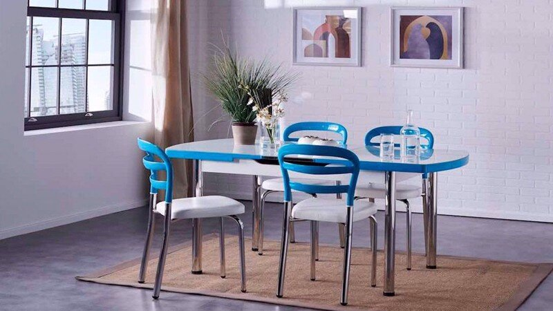 NOA KITCHEN TABLE (TURQUOISE)