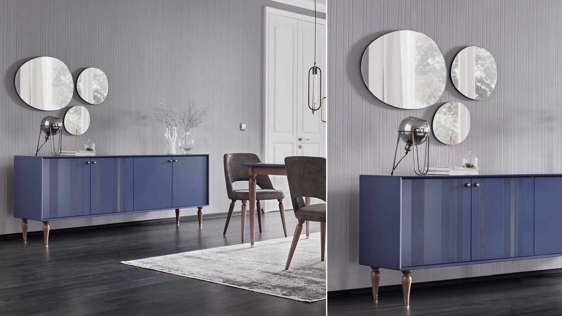 Floria Sideboard Mirror (Blue)