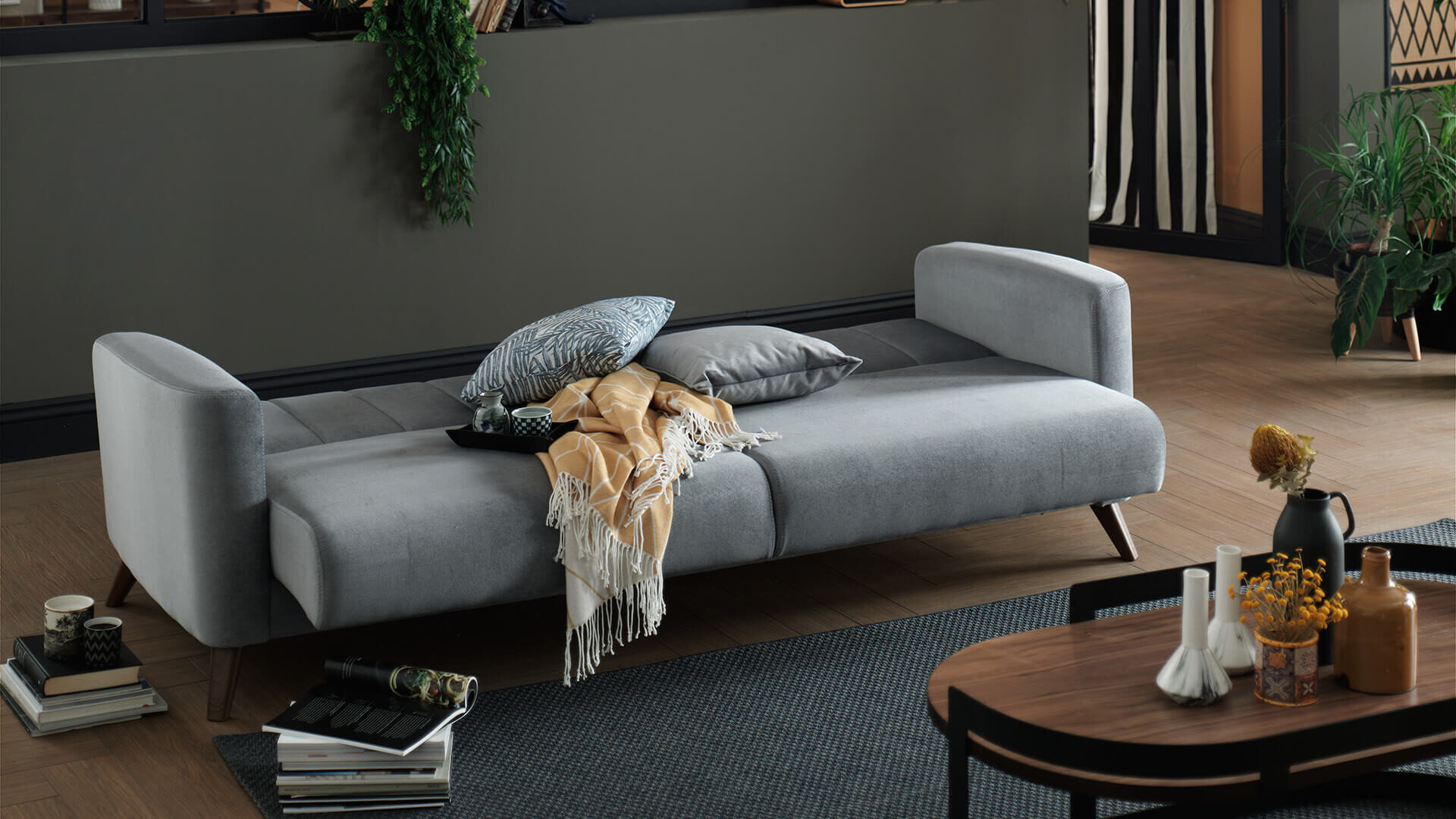 Loft Three Seater Sleeper Storage Sofa