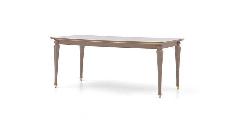 ALICE WOODEN LEG DINING TABLE (DAFNE)