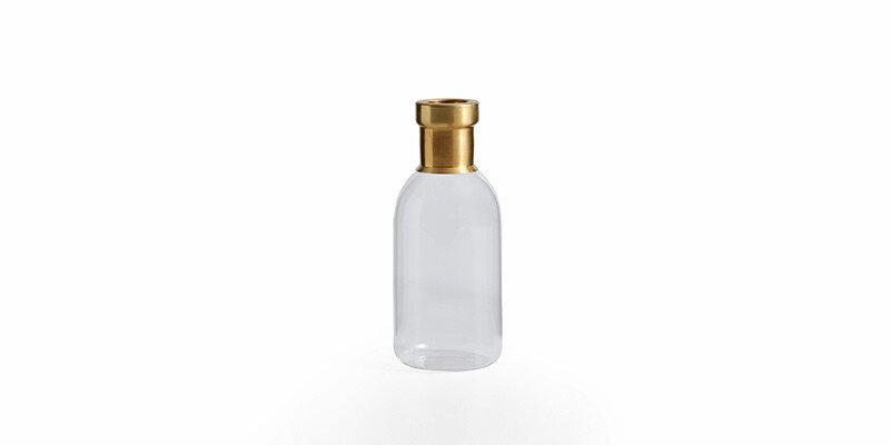Dıamond Cam Vazo Şeffaf Gold - Küçük