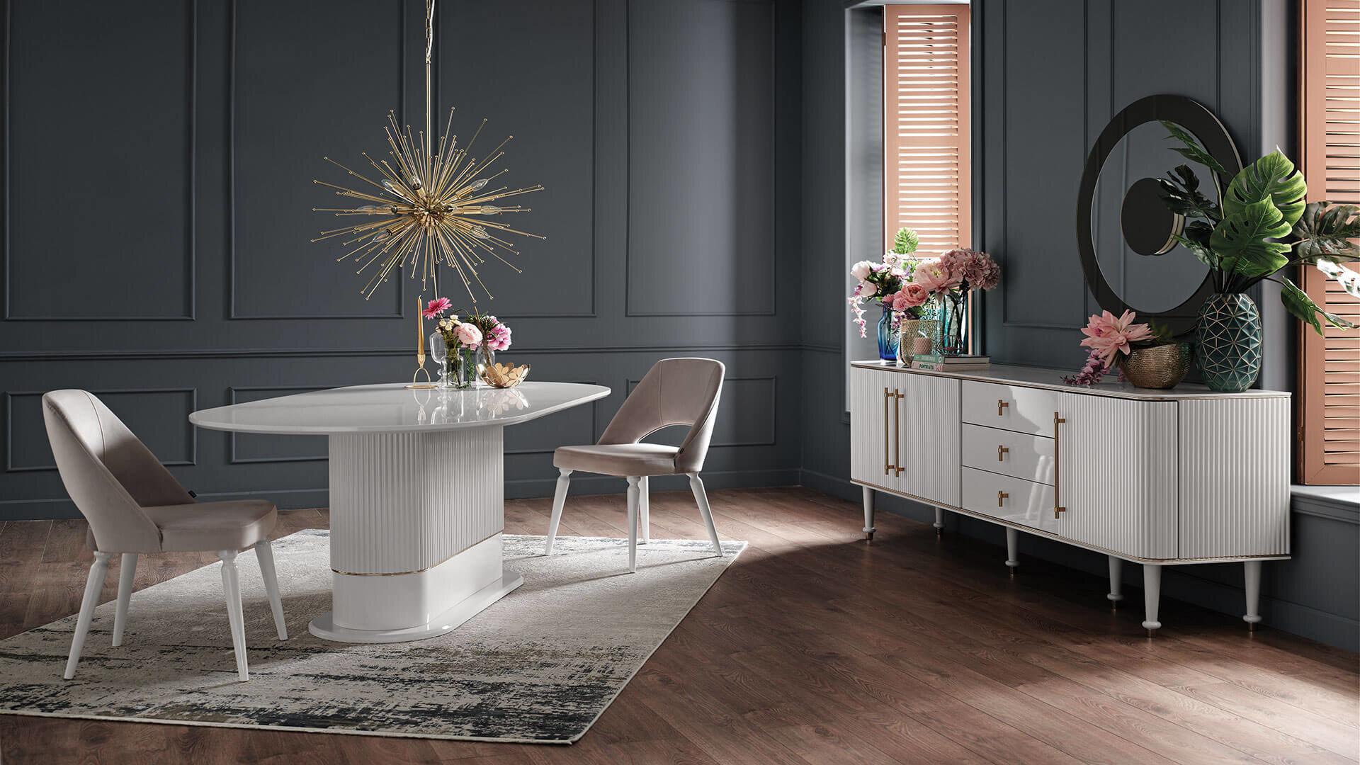 Olivia Dining Room Set - White