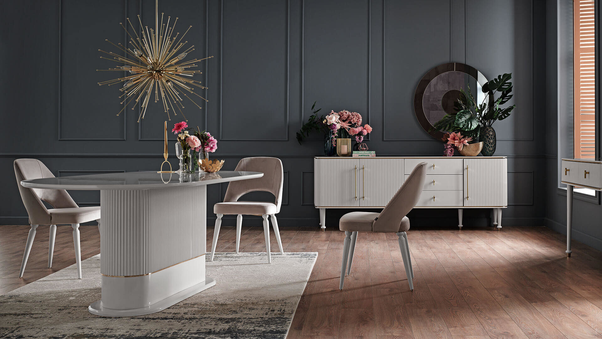 Olivia Dining Table - White