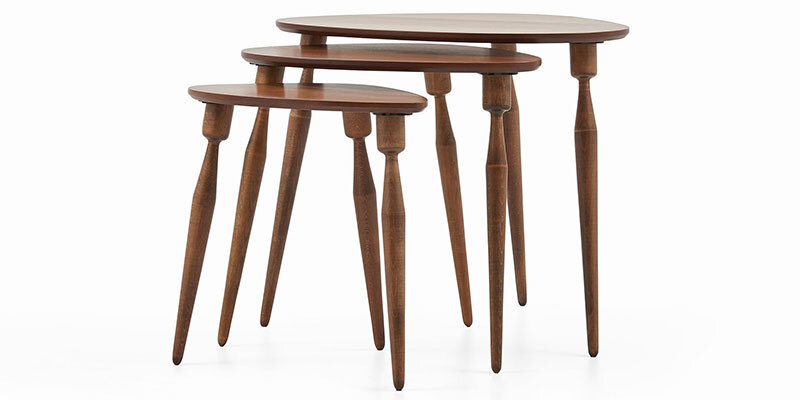 Valeri Tables Gigognes (Noyer Naturel)