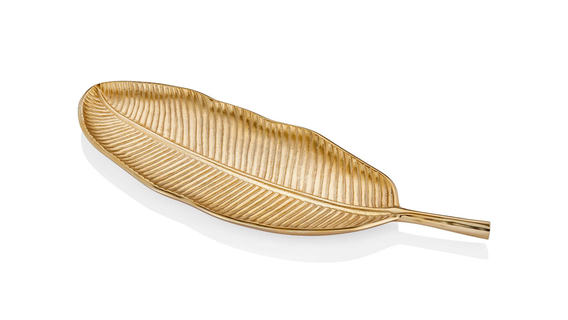 Dıamond Sehpa Dekoru Pirinç Yaprak Büyük