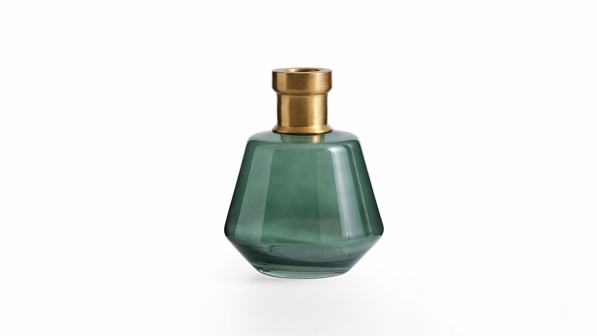 Logan Küçük Cam Vazo Yeşil