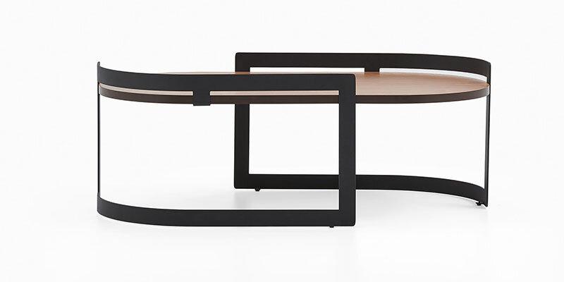 Ren Center Table Amalfi Walnut/Black