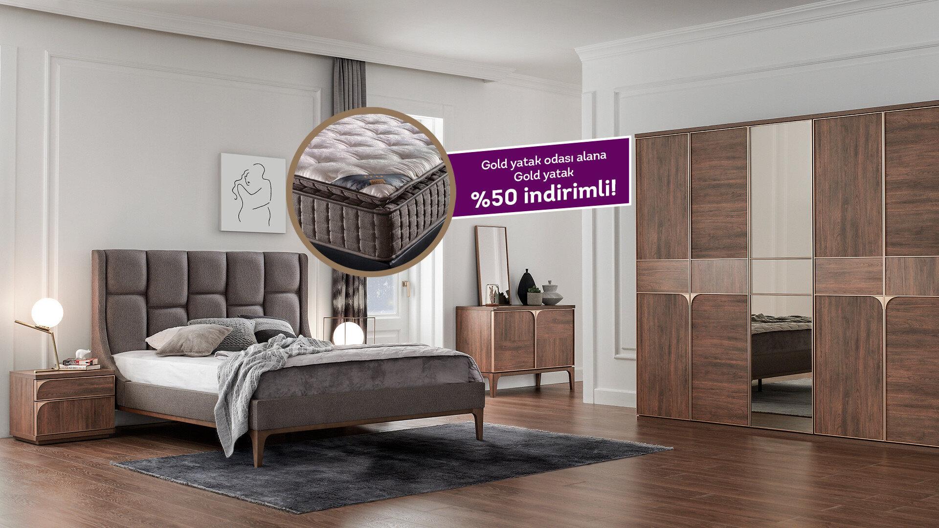 Gold Yatak Odası