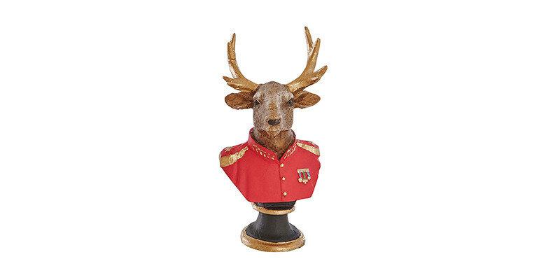 Cross Deer Bust