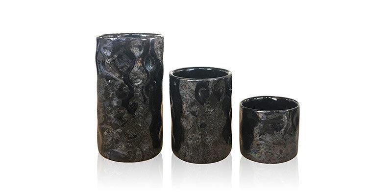 Matılda 3'Lü Vazo Seti Siyah