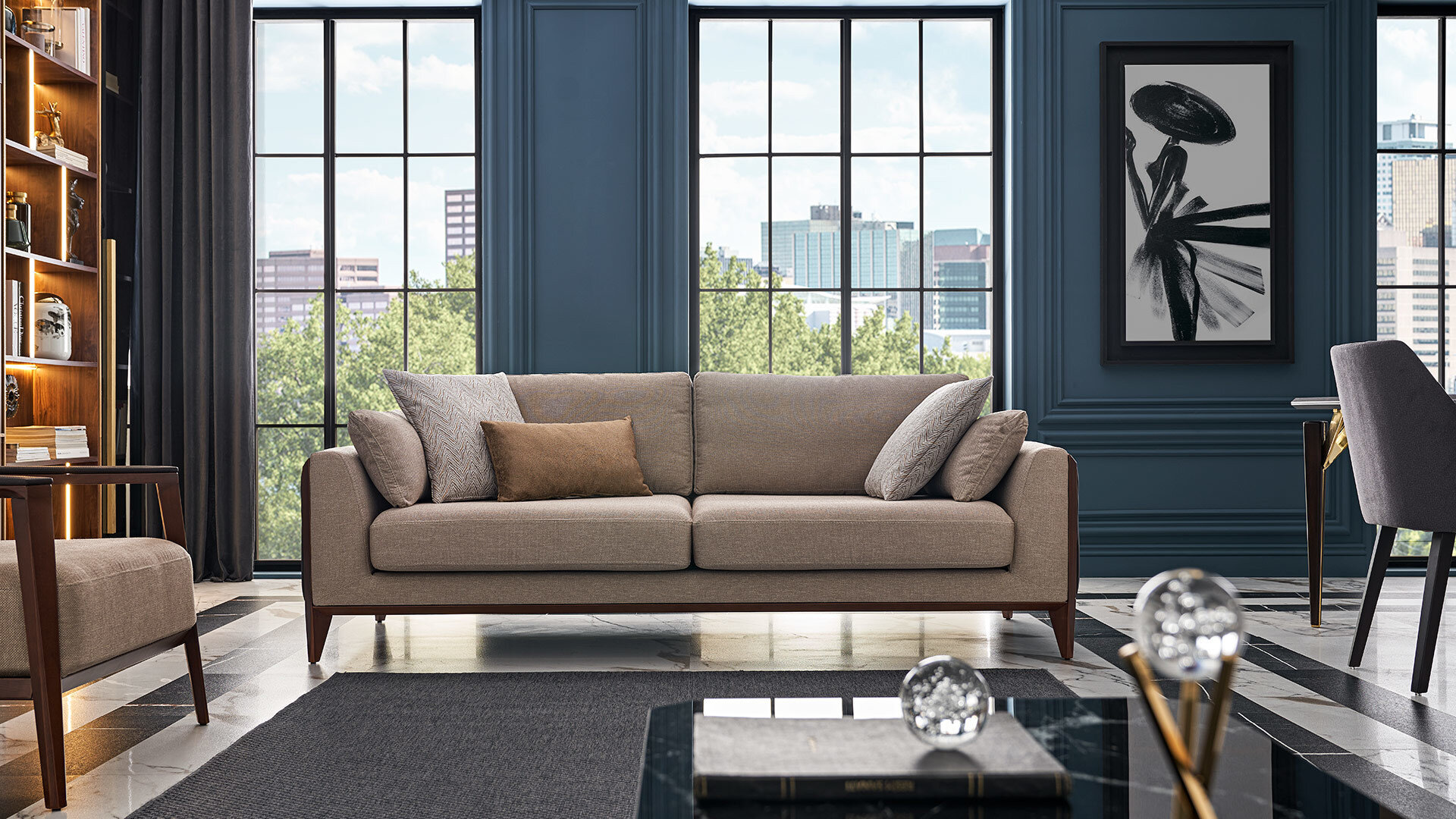Logan Three Seater Sofa