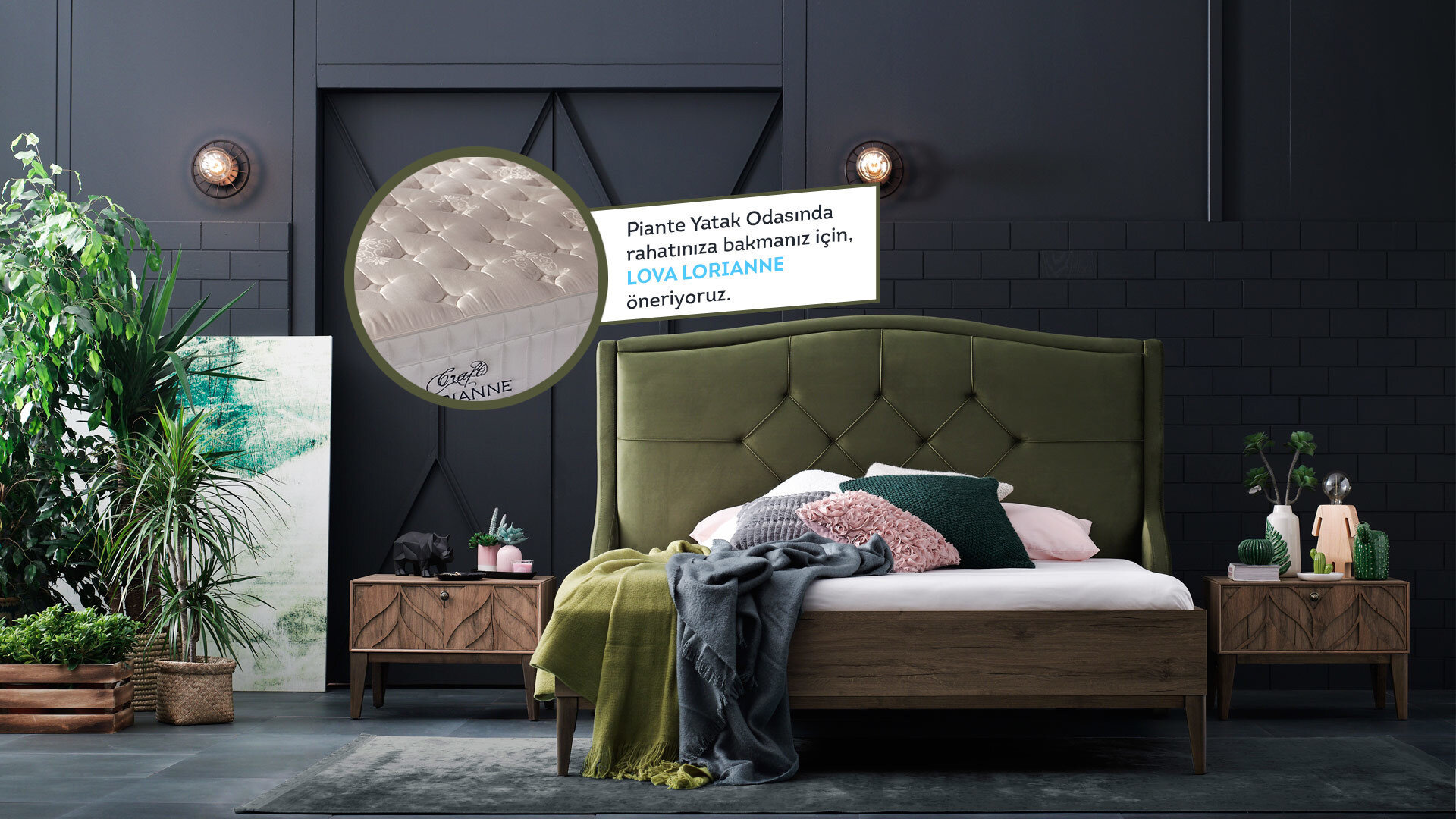 Pıante Yatak Odası
