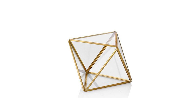 Larına Home-06  Gold Piramit Fanus - Küçük