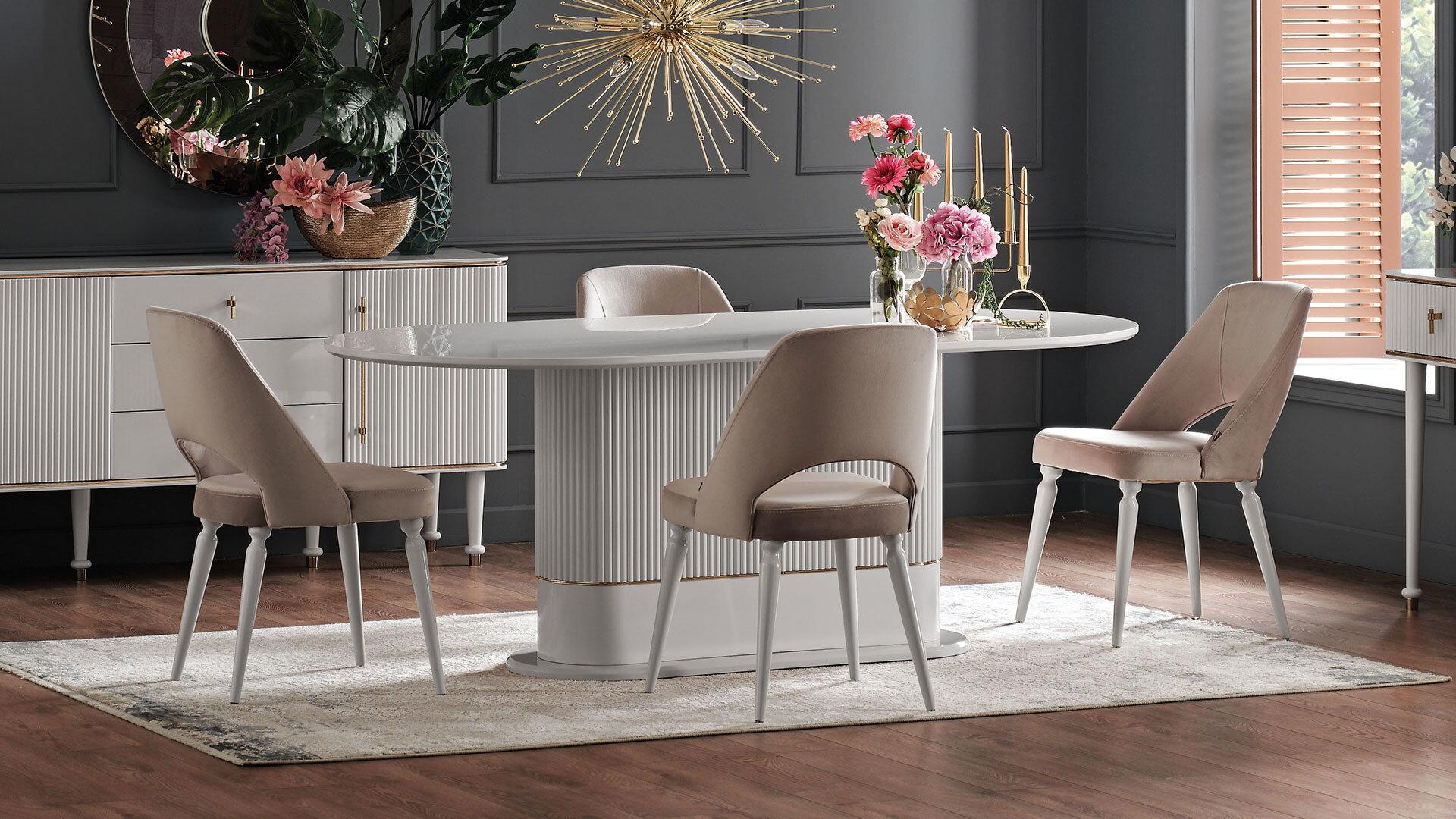 Olıvıa Sabı̇t Yemek Masası - Beyaz
