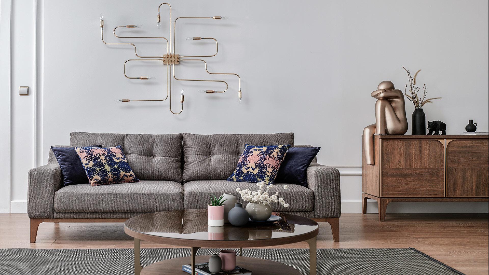 Gold 2 Seater Sofa