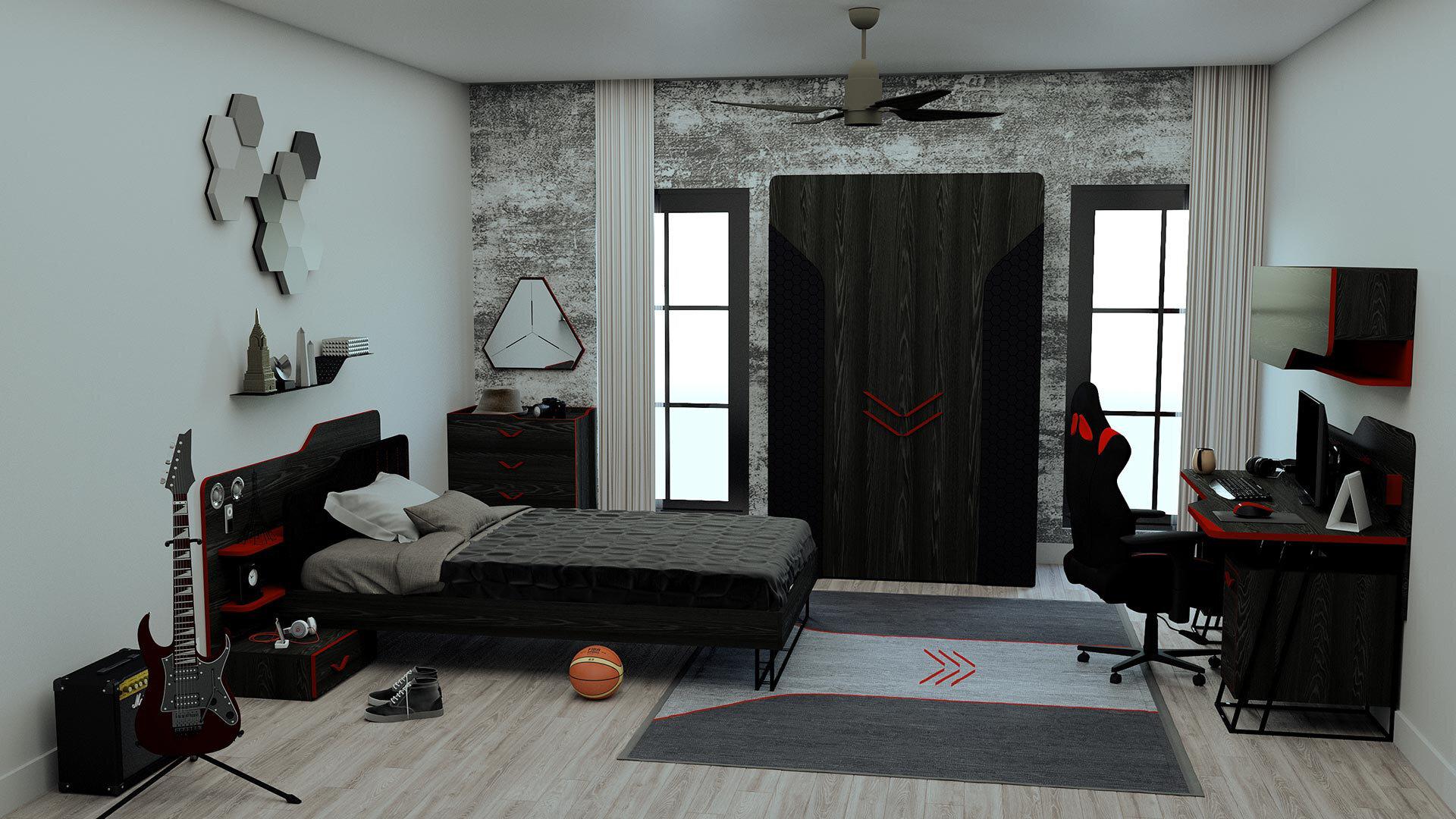 Gamer Wardrobe With 3 Doors