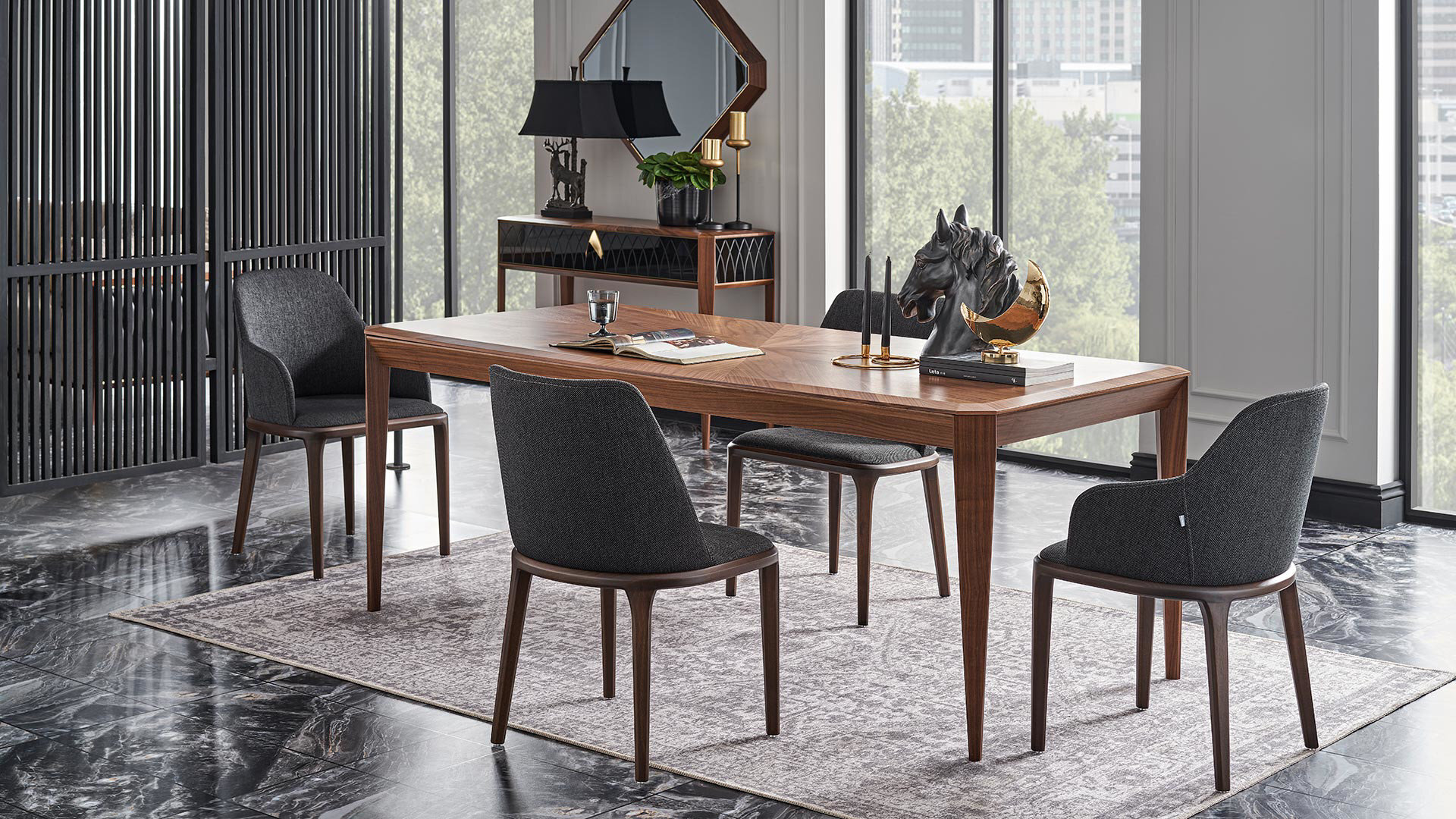 Logan Marquetry Console