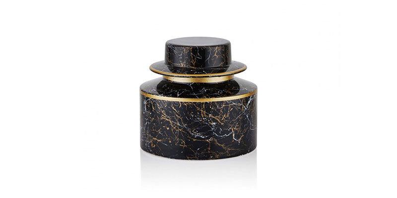 Venera Home-07 Siyah Gold Silindir Küçük Küp