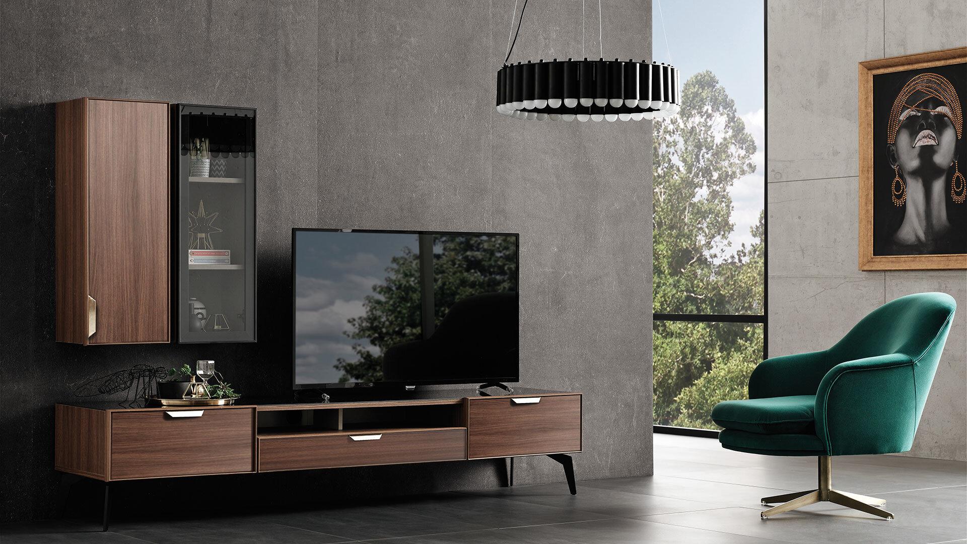 Louisa Tv Unit Top Module With Glass Door