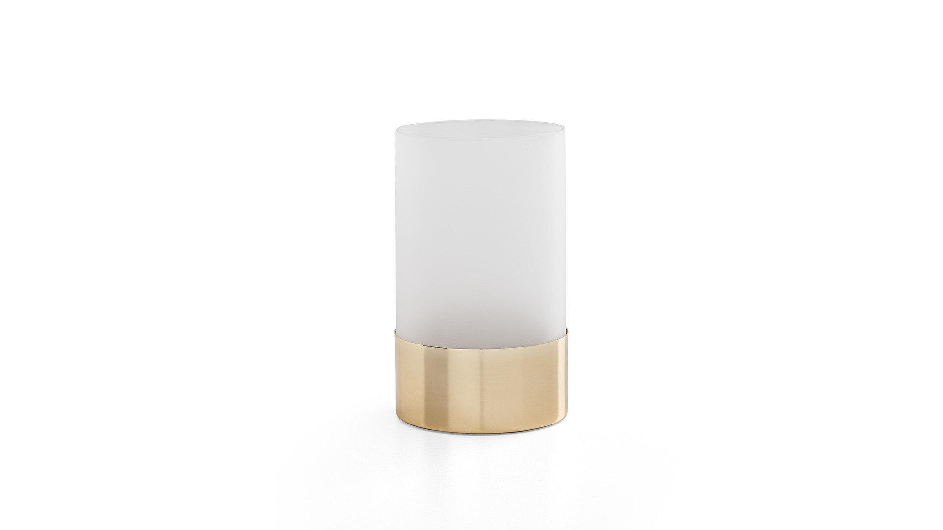 Lıkya Home-08 Buzlu Camlı Mat Altın Orta Vazo