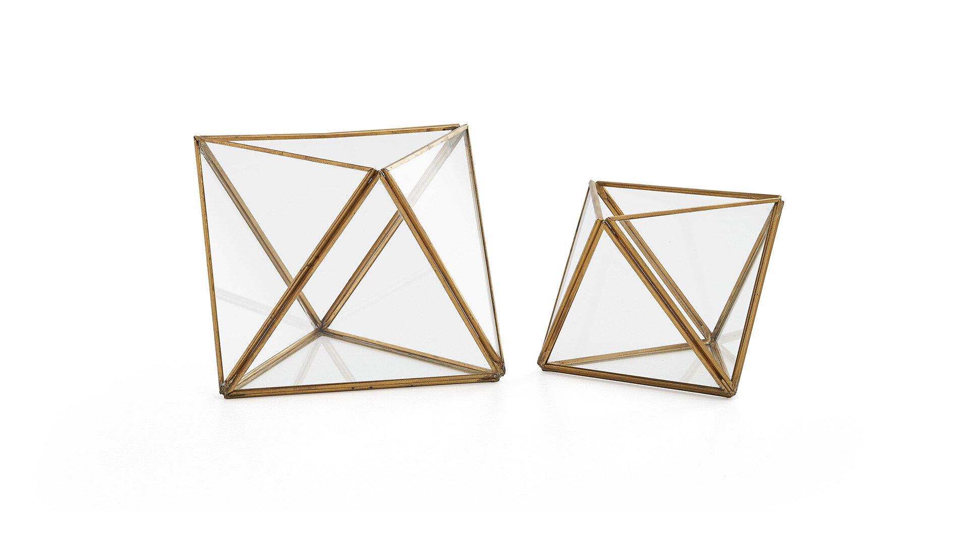Larına Home-06   Gold Piramit Fanus - Büyük