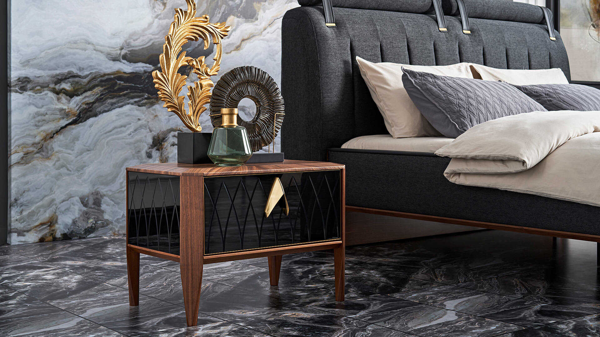 Logan Marquetry Nightstand